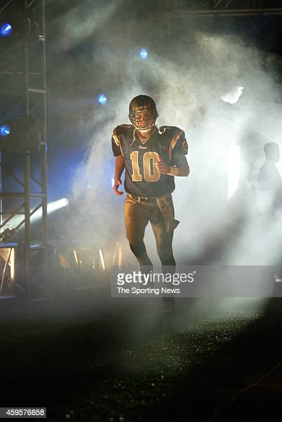 Marc Bulger of the St Louis Rams makes his way on to the field during a game against the Chicago Bears on December 11 2006 at the Edward Jones Dome...
