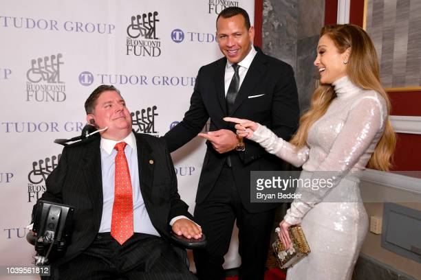 Marc Buoniconti, Alex Rodriguez, and Jennifer Lopez attend the 33rd Annual Great Sports Legends Dinner, which raised millions of dollars for the...