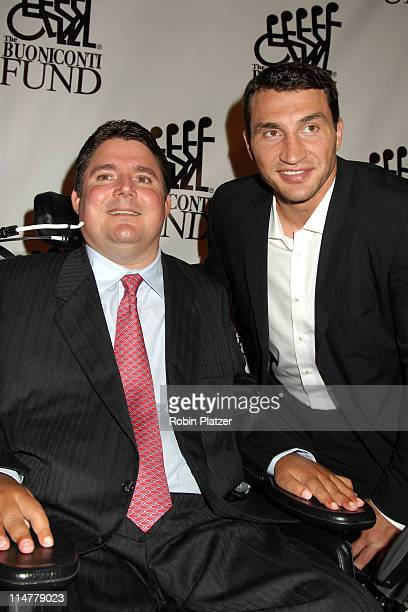 Marc Buoniconti and Wladimir Klitschko during 21st Annual Great Sports Legends Dinner at The Waldorf Astoria in New York City New York United States