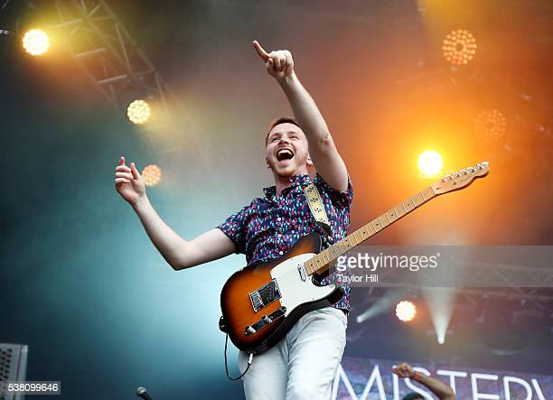 Marc Campbell of Misterwives performs onstage during 2016 Governors Ball Music Festival at Randall's Island on June 4, 2016 in New York City.
