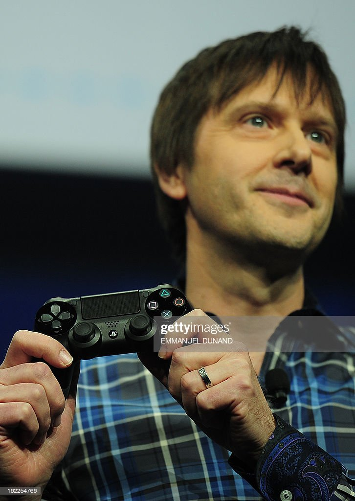 Marc Cerny, lead architect of PlaySation 4, introduces the BioShock4, the new controller for Sony's PlayStation 4 at a news conference February 20, 2013 in New York.