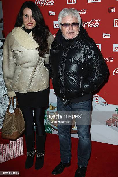Marc Cerrone and his wife Jill Cerrone attend 'Association Petits Princes' And Coca Cola Red Train Launch at Gare de L'Est on December 15 2011 in...