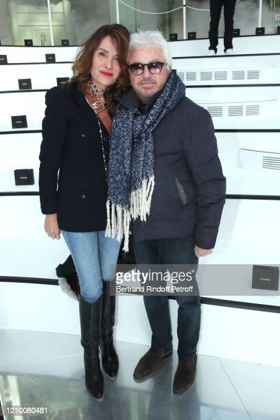 Marc Cerrone and his wife Jill Cerrone attend the Chanel show as part of the Paris Fashion Week Womenswear Fall/Winter 2020/2021 on March 03 2020 in...