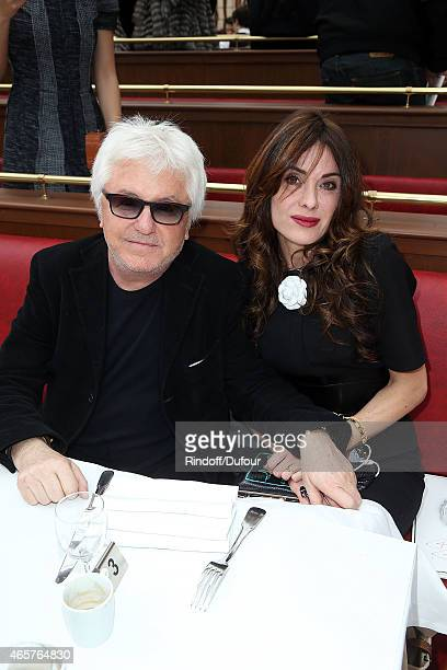Marc Cerrone and Jill Cerrone attend the Chanel show as part of the Paris Fashion Week Womenswear Fall/Winter 2015/2016 at Grand Palais on March 10...