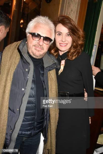 Marc Cerrone and Jill Cerrone attend the Les Deux Magots L'Esprit Rive Gauche Book Launch at Deux Magots on January 21 2019 in Paris France
