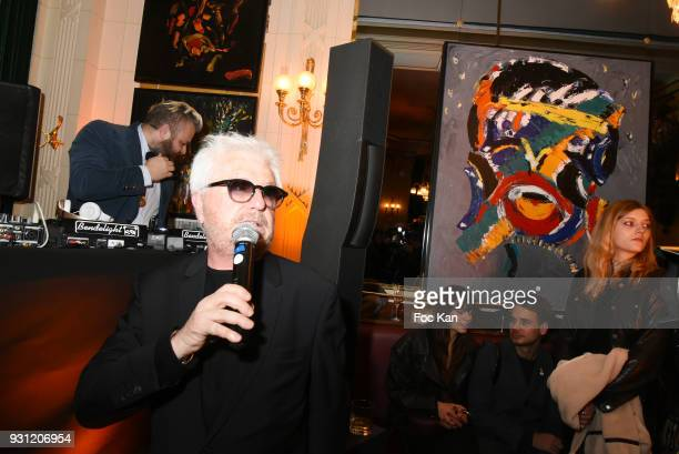 Marc Cerrone attends Marc Cerrone Exhibition Preview at Deux Magots a on March 12 2018 in Paris France