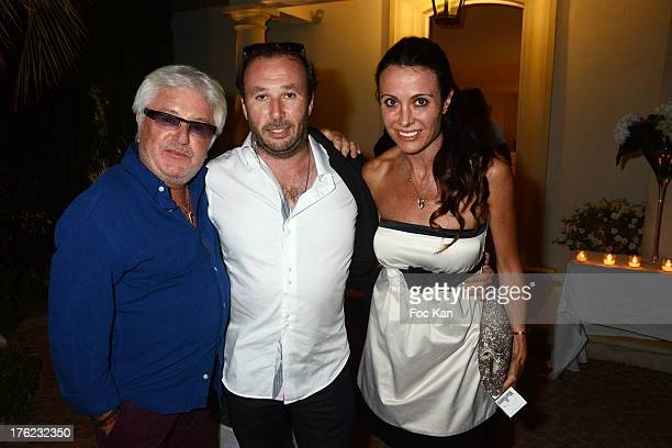 Marc Cerrone Jean Christophe Sibelya and Jill Cerrone attend the Massimo Gargia's Party hosted by Richard Roizen at Villa Les Acanthes In SaintTropez...