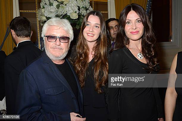 Marc Cerrone Maora Cerrone and Jill Cerrone attend Sauvons Saint Cloud Auction Ceremony Dinner at Hotel Interallie on March 11 2014 in Paris France