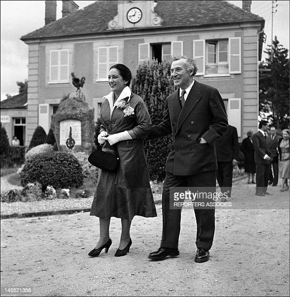 Marc Chagall and Valentine Brodsky 'Vava' during their wedding 1952 in France
