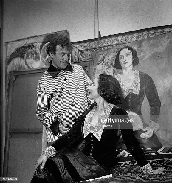 Marc Chagall French painter and his first wife Bella August 1934