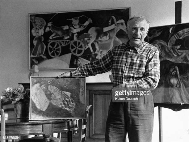 Marc Chagall the Russianborn painter and graphic artist