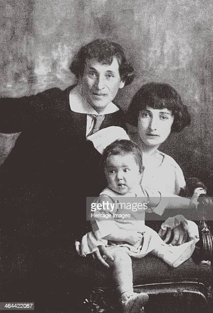 Marc Chagall with his first wife Bella and Daughter Ida