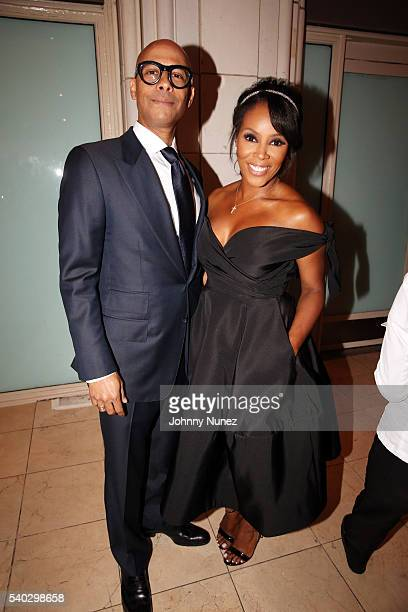 Marc Chamblin and June Ambrose attend the 2016 National Urban Technology Center Gala Awards Dinner at Gustavino's on June 14 2016 in New York City