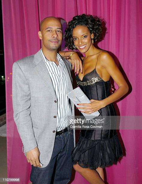 Marc Chamblin and Selita Ebanks during Victoria's Secret Launches Very Sexy Makeup After Party at Xchange in New York City New York United States