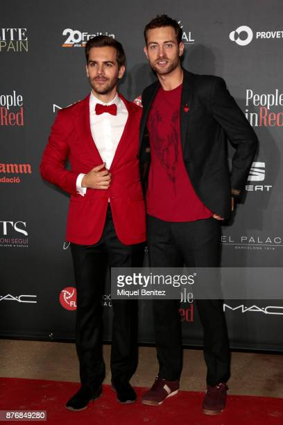 Marc Clotet and Peter Vives attend the 'People in Red' Charity Party event for investigation against Aids at Palau de Pedralbes of Barcelona on...