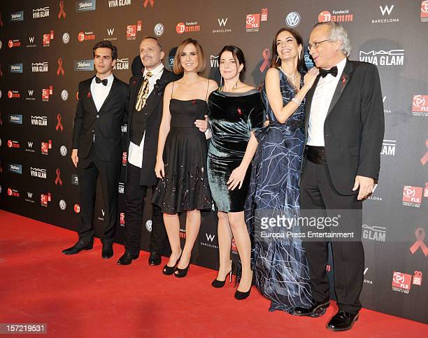 Marc Clotet Miguel Bose Ania Clotet and Eugenia Silva attend 'Gala Against HIV 2012' at Hotel W on November 29 2012 in Barcelona Spain