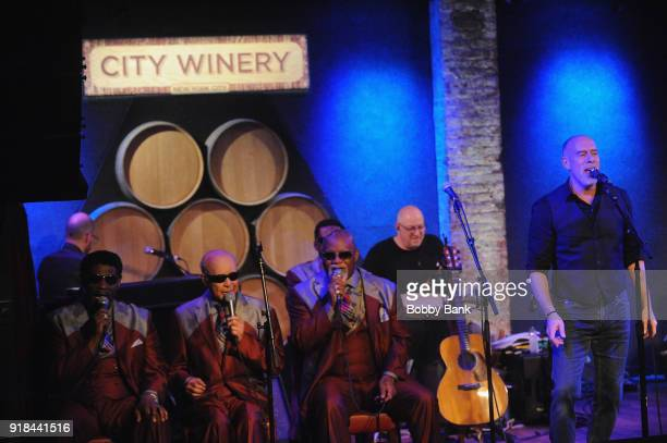 Marc Cohn performs with Jimmy CarterClarence Fountain Paul Beasley Eric 'Ricky' McKinnie and Ben Moore of The Blind Boys of Alabama at his 6th Annual...
