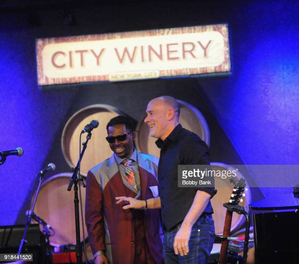 Marc Cohn performs with Paul Beasley of The Blind Boys of Alabama at his 6th Annual Very Special Marc Cohn Valentine's Day Show at City Winery on...