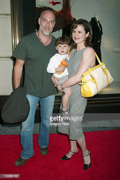 Marc Cohn son Zachery and wife Elizabeth Vargas during 'Lotsa de Casha' by Madonna Book Launch Party at Bergdorf Goodman in New York June 7 2005 at...