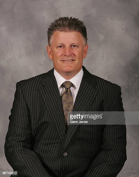 Marc Crawford head coach of the Dallas Stars poses for his official headshot for the 20092010 NHL season