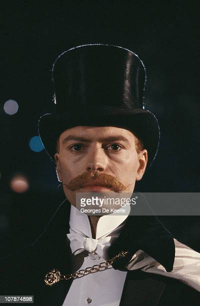 Marc Culwick as Prince Albert Victor during production of the TV miniseries 'Jack the Ripper' directed by David Wickes 25th May 1988