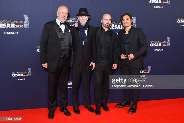 Marc de Pontavice a guest Jeremy Clapin and Dan Levy arrive at the Cesar Film Awards 2020 Ceremony At Salle Pleyel In Paris on February 28 2020 in...