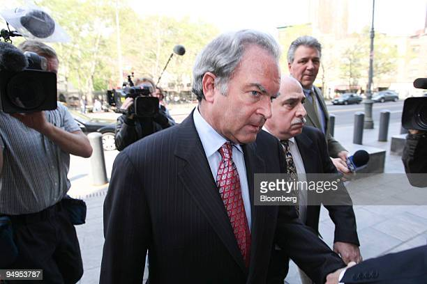 Marc Dreier, founder of Dreier LLP, arrives at federal court for a hearing in New York, U.S., on Monday, May 11, 2009. Dreier is accused of...