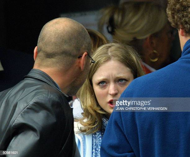 Marc Dutroux 's victim Sabine Dardenne talks during a break at Arlon's court in the last days of the trial of Marc Dutroux 21 June 2004 After the...
