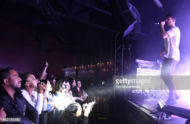 Marc E Bassy performs during the 'Bebe Bassy Tour 2017' at Ace of Spades on October 19 2017 in Sacramento California