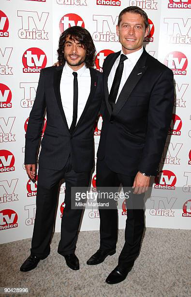 Marc Elliot and Johnny Patridge attend the TV Quick Tv Choice Awards at The Dorchester on September 7 2009 in London England