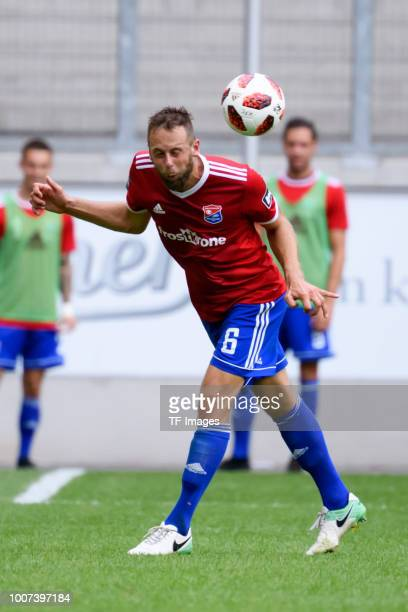 Marc Endres of Haching controls the ball during the 3 Liga match between KFC Uerdingen 05 and SpVgg Unterhaching at GrotenburgStadion on July 29 2018...