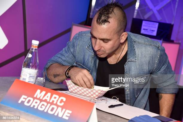 Marc Forgione judges the Food Network Cooking Channel New York City Wine Food Festival presented by CocaCola Rooftop Iron Chef Showdown Battle Autumn...