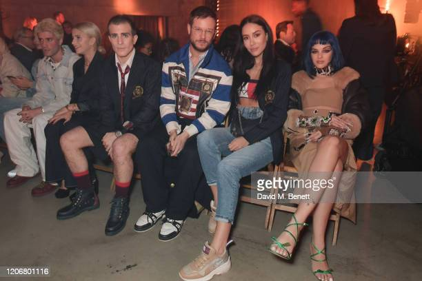 Marc Forne Caroline Daur Carlo Sestini Paolo Stella Tamara Kalinic and Sita Abellan attend the TOMMYNOW London Spring 2020 at Tate Modern on February...