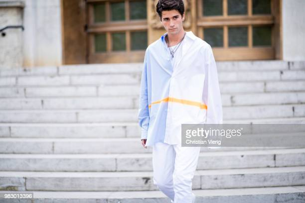 Marc Forne is seen outside Lanvin on day six of Paris Fashion Week Menswear SS19 on June 24 2018 in Paris France