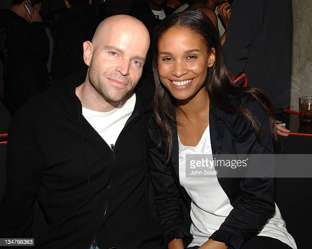 Marc Forster and Joy Bryant during Joy Bryant, Elizabeth Banks and Bijou Phillips Host Mean Magazine Release Party Sponsored by Antik Denim and Amp'd...