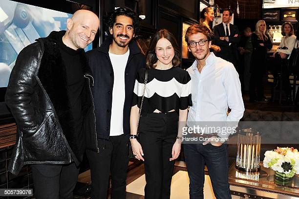 Marc Forster Dev Patel Elsa Zylberstein and Ruben Alves visit the IWC booth during the launch of the Pilot's Watches Novelties from the Swiss luxury...