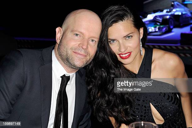 Marc Foster and Adriana Lima attend the IWC Schaffhausen Race Night event during the Salon International de la Haute Horlogerie 2013 at Palexpo on...