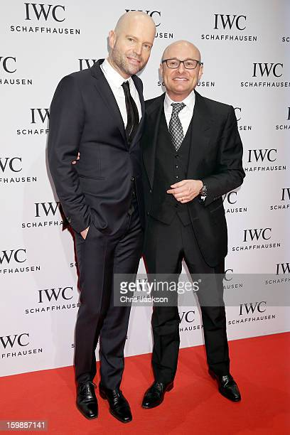 Marc Foster and Georges Kern attend the IWC Schaffhausen Race Night event during the Salon International de la Haute Horlogerie 2013 at Palexpo on...
