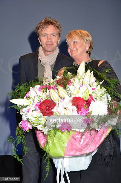 Marc Francois and Isabelle Foret widow of Claude Francois attend the 'Trofemina 2012 Edition hosted by Tentation at Institut du Monde Arabe on June 4...