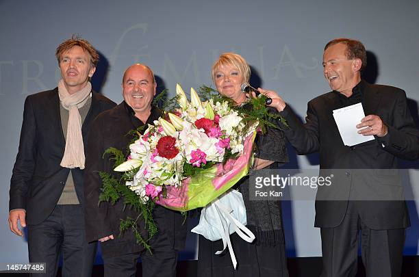 Marc Francois the 'Florist of Stars' Isabelle Foret and Roland Escaig attend the 'Trofemina 2012 Edition hosted by Tentation at Institut du Monde...