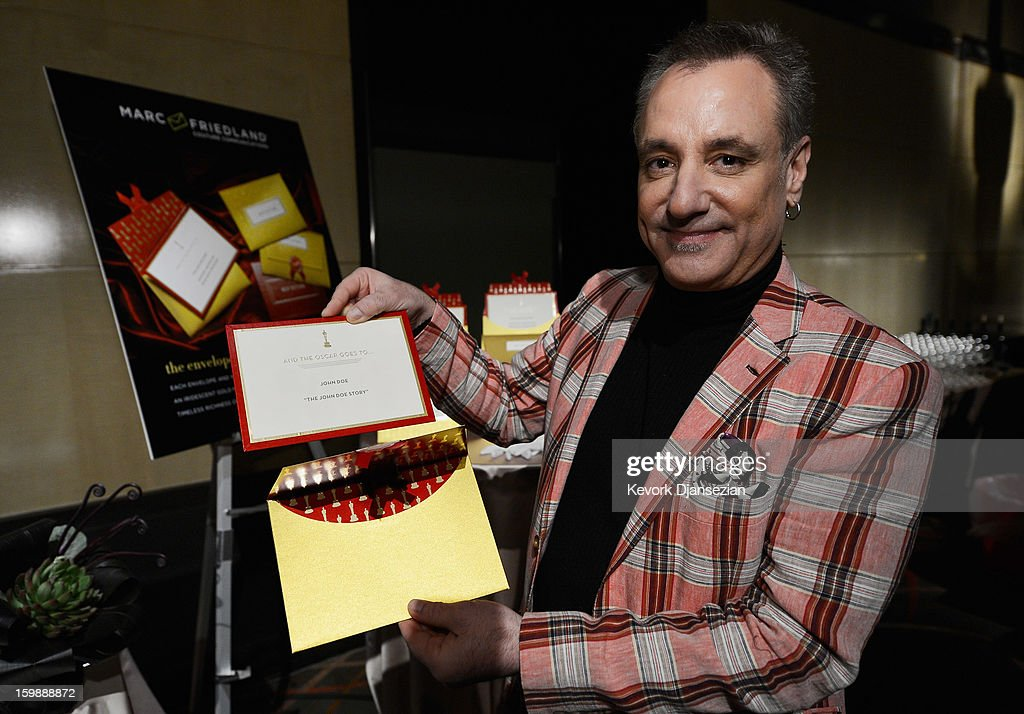 Marc Friedland, designer of the Academy Awards winners envelope and invitations, during a preview of the 85th Academy Awards Governors Ball on January 22, 2013 in Hollywood, California. Academy governor Jeffrey Kurland, event producer Cheryl Cecchetto and Puck will return to create this year's Governors Ball, the Academy's official post-Oscar celebration, which will immediately follow the 85th Academy Awards ceremony on Sunday, February 24. The 1,500 guests include Academy Award winners and nominees, show presenters and other telecast participants.