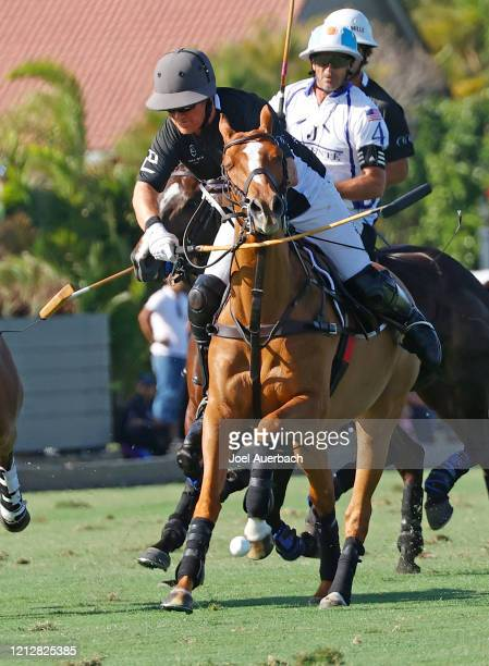 Marc Ganzi of Richard Mille plays the ball against Valiente during The Palm Beach Open on March 15 2020 at the Grand Champions Polo Club in West Palm...