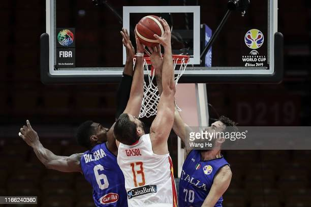 Marc Gasol of Spain in action against Italy during FIBA Basketball World Cup China 2019 at Wuhan Sports Center on September 06 2019 in Wuhan China