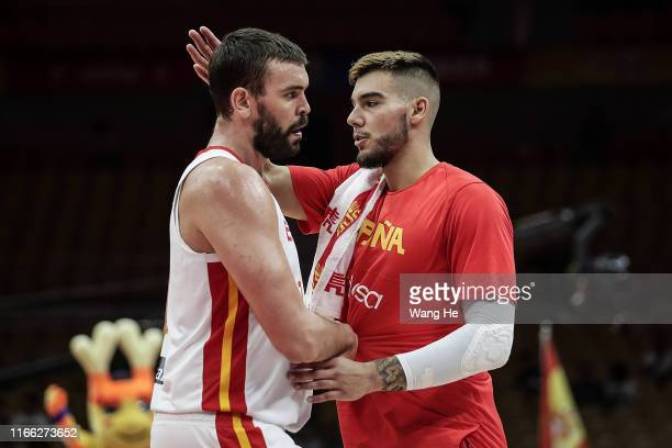 Marc Gasol of Spain reacts against Italy during FIBA World Cup 2019 Group J match between Spain and Italy at Wuhan Sports Centre on September 06 2019...
