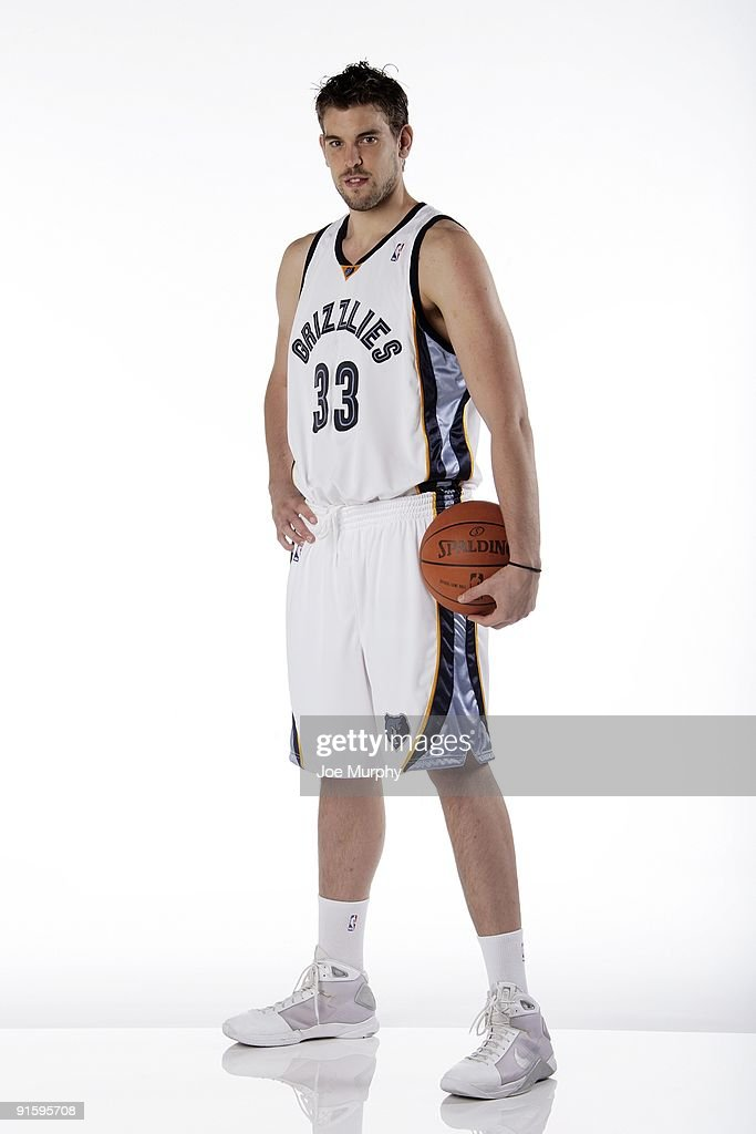 Marc Gasol #33 of the Memphis Grizzlies poses for a portrait during NBA Media Day on September 28, 2009 at the FedExForum in Memphis, Tennessee.