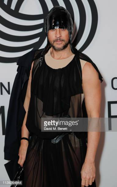 Marc Goering attends the International Woolmark Prize 18/19 Final show during London Fashion Week February 2019 at Lindley Hall on February 16 2019...