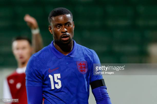 Marc Guehi of England looks on during the UEFA Euro Under 21 Qualifier match between Austria U21 and England U21 at Keine Sorgen Arena on September...