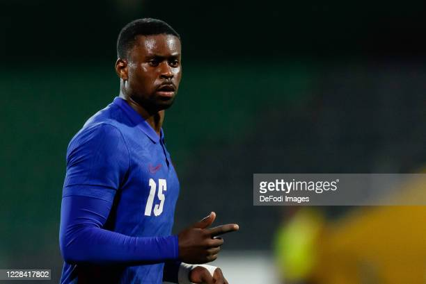 Marc Guehi of England looks on during the UEFA Euro Under 21 Qualifier match between Austria U21 and England U21 at Keine Sorgen Arena on September 8...