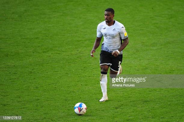 Marc Guehi of Swansea City in action during the Sky Bet Championship match between Swansea City and Huddersfield Town at the Liberty Stadium on...