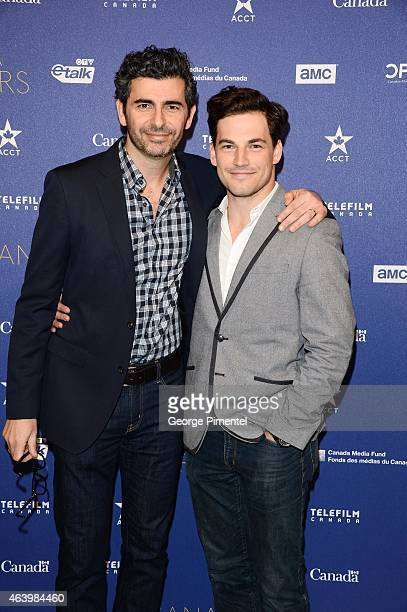 Marc Hamou and Giacomo Gianniotti attend the Telefilm Canada Oscar Week Gala held at The Four Seasons Hotel on February 19 2015 in Beverly Hills...